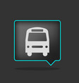 black neon bus icon vector image vector image