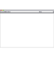 Blank window of internet browser template vector image vector image