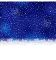 Blue snowflake winter Christmas background vector image vector image