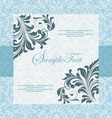blue wedding card vector image vector image