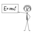 cartoon scientist or physicist pointing vector image