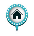 chat bubble with house inside vector image vector image