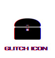 chest icon flat vector image