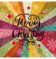 Christmas background with lettering vector image