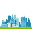 city skyline on white background urban landscape vector image