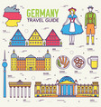 country germany travel vacation guide of goods vector image