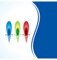 creative artistic bulb vector image