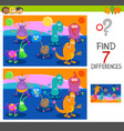 differences game with monster characters vector image vector image