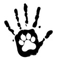 dog pet animal paw care logo template vector image