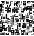 door seamless pattern background icon vector image vector image