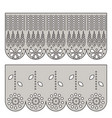 eyelet lace decorative ornament for border of vector image