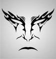 Face Tattoo Design vector image vector image