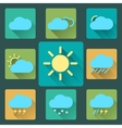 Flat Weather icons and set Long Shadows Seasons vector image vector image