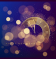 golden clock dial with roman numbers on magic vector image vector image
