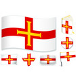 guernsey flag in different vector image vector image