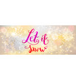 holiday winter banner vector image vector image