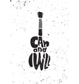 I can and I will Motivational grunge poster vector image