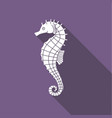 icon seahorse with shadow vector image