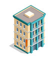 isometric hotel building place isolated icon vector image vector image
