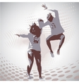 jumping boy and girl vector image vector image