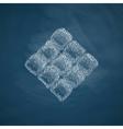 ketupat icon vector image