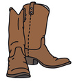 Leather jackboots vector image