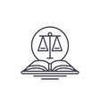 legal code line icon concept legal code vector image vector image