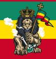 lion judah marijuana cannabis smoke bong vector image vector image