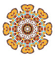 mandala ethnicity round ornament vector image vector image