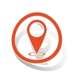 Map pointer sign sticker orange vector image vector image