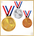Medals Gold Silver And Bronze vector image
