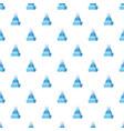 mens winter hat pattern vector image vector image