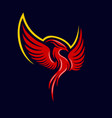modern mythical phoenix logo vector image