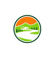 mountain lake nature icon logo vector image vector image