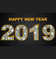 new year 2019 of precious stones and jewels vector image vector image