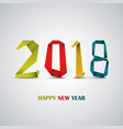 new year card with design abstract colored folded vector image