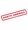 North America Rubber Stamp vector image vector image