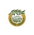 olive-leaf-logo vector image vector image
