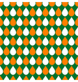 Orange White Green Water Drops Background vector image
