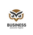 owl logo in modern colorful logo design vector image