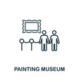 painting museum outline icon thin line concept vector image vector image