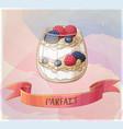 parfait dessert with berries icon cartoon vector image vector image