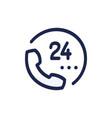 phone hand drawn cartoon icon hotline customer vector image vector image