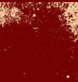 red grunge template vector image vector image