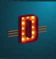 retro style letter d vector image