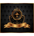 royal golden frame for design vector image vector image