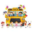School bus kids vector image vector image