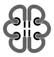 shoe lace brain symbol vector image vector image