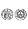 silver francs vintage engraving vector image vector image