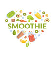 smoothie banner template healthy vitamin drinks vector image vector image